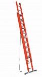 Dvodelna raztegljiva lestev V051 z vrvjo
