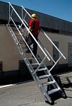 Aluminum adjustable stairs AV80