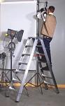 Professional Al ladder two-sided 6015