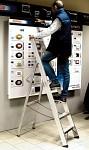 Professional Al ladder with nylon platform 6026T