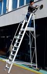 Profesionalna A lestev s platformo in ograjo 6083-A