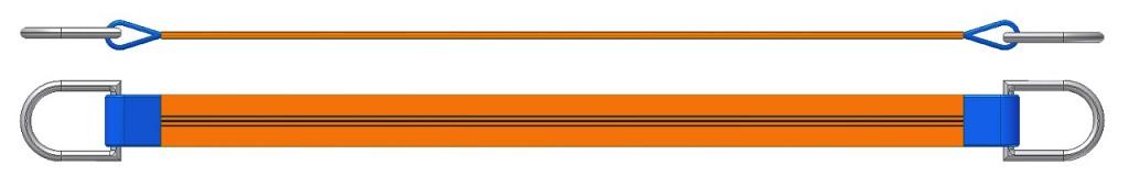 Dvižni trak z dvema navadnima obročema DTD 1500
