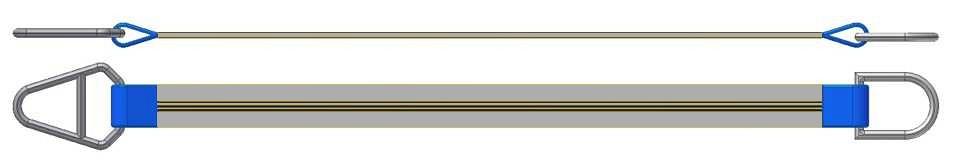 Dvižni trak z navadnim in triangel obročem DTO 400