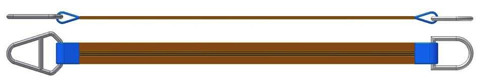 Dvižni trak z navadnim in triangel obročem DTO 600