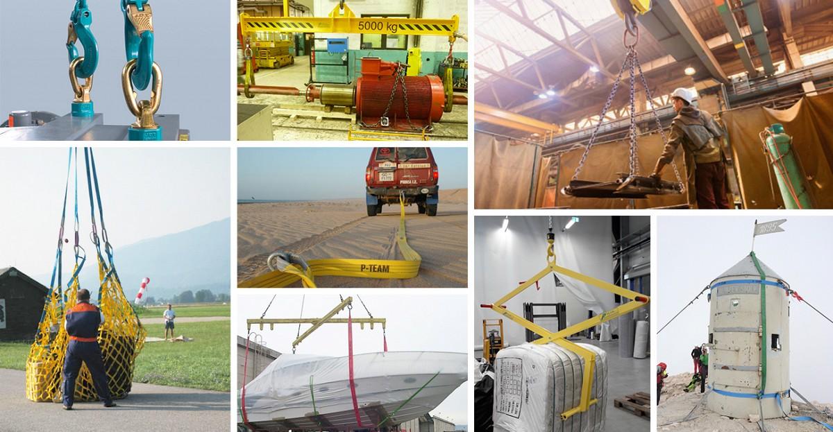 Opreme za dvigovanje in povezovanje tovora...