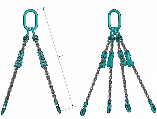 4 stremenska bremenska veriga VB 412 s skrajševalnimi členi, kvaliteta 100
