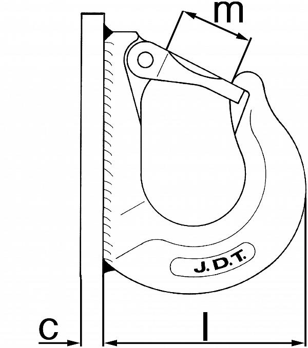 Kavelj za privijačenje AHKG